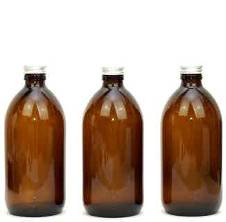 Amber Glass Refillable Bottles from Flawless in Travel Essentials & Storage , Sustainable Beauty & Health