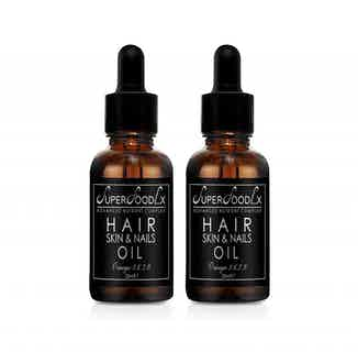 Rejuvenating Natural Skin, Hair & Nail Oil | Fragrance Free | 20ml | Pack of 2 from SuperFoodLx in Haircare, Sustainable Beauty & Health