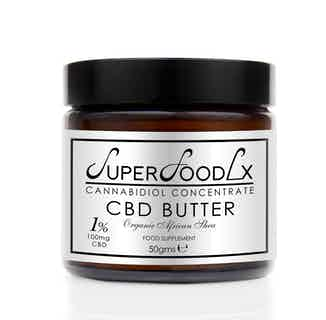 Natural CBD Butter | Manage Pain & Improve Sleep | 100mg from SuperFoodLx in Haircare, Sustainable Beauty & Health