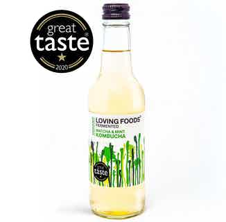 Organic Natural Kombucha | Matcha & Mint | 330ml | Single or Multi from Loving Foods in Kombucha, Drinks