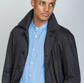 Organic Cotton Men's Twill Mac | Black from Rozenbroek in Jackets & Coats, Men's Sustainable Fashion