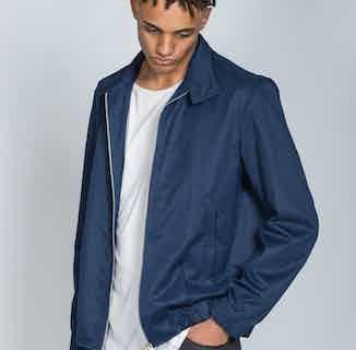 Organic Harrington Jacket | Dark Blue or Grey from Rozenbroek in Jackets & Coats, Men's Sustainable Fashion