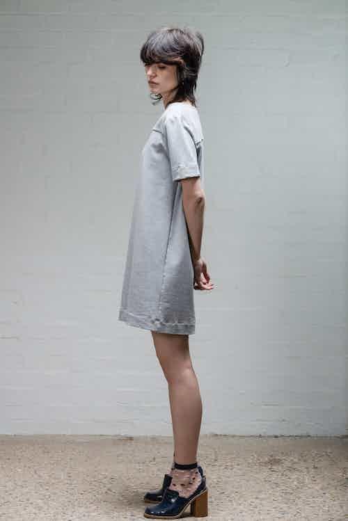 Organic Cotton Women's T-Shirt Dress   Grey from Rozenbroek in Dresses, Dresses & Skirts
