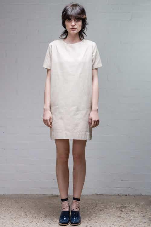 Organic Denim Dress | Old White from Rozenbroek in Dresses, Dresses & Skirts