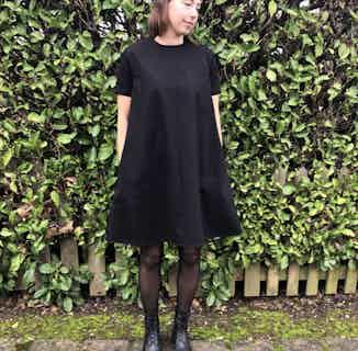 Organic Cotton Sculpted Dress   Black from Rozenbroek in Dresses, Dresses & Skirts
