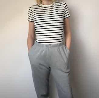Organic Cotton Sweatpants   Grey from Rozenbroek in Sweatpants, Bottoms