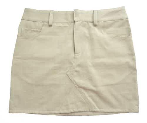 Organic Women's Denim Skirt | Old White from Rozenbroek in Dresses & Skirts, Women's Sustainable Clothing