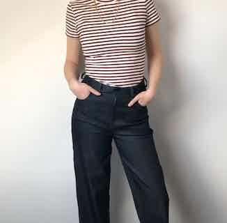 Organic Denim Straight Leg Jeans   Dark Blue from Rozenbroek in Jeans, Bottoms