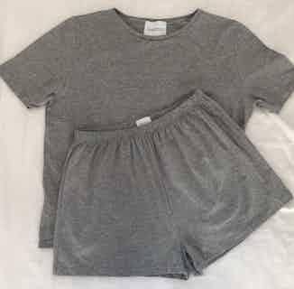 Organic Bamboo Women's Shorts & T-Shirt Set | Grey from Rozenbroek in Sleepwear, Women's Sustainable Clothing