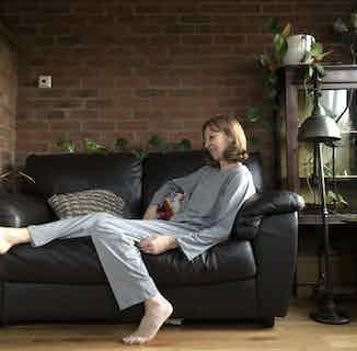 Organic Bamboo Women's Pants & Long Sleeve T-Shirt Set | Grey from Rozenbroek in Sleepwear, Women's Sustainable Clothing