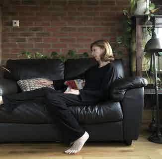 Organic Cotton Pants & Long Sleeve Women's T-Shirt Set | Black from Rozenbroek in Sleepwear, Women's Sustainable Clothing