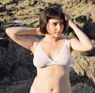 Dawa | Recycled Lace Triangle Bra | White from Olly in Underwear, Women's Sustainable Clothing