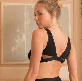 Onyx | Organic Cotton Triangle Bra | Black from Olly in Underwear, Women's Sustainable Clothing