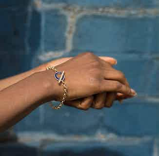 Pip Collection   Sustainably Sourced Heavy Chain Bracelet   Navy & Gold from Little by Little in Bracelets, Jewellery