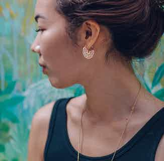 Seville Collection | Sustainably Sourced Patterned Hoop Earrings | Gold from Little by Little in Earrings, Jewellery