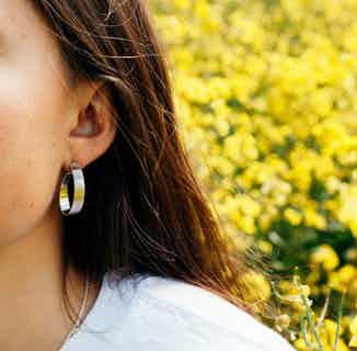 Apple Pip Hoop Earrings, Gold from Little by Little in Earrings, Jewellery