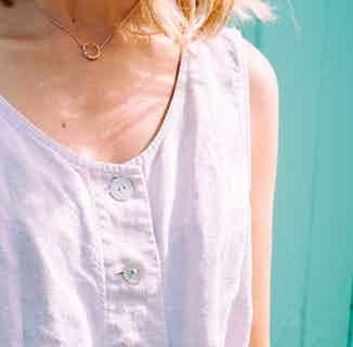 Mustard Collection   Sustainably Sourced Circular Cluster Necklace   Silver & Gold from Little by Little in Necklaces, Jewellery
