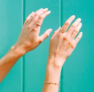 Mustard Collection   Sustainably Sourced Dot Ring Band   Gold from Little by Little in Rings, Jewellery