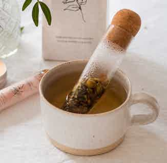 Glass Herbal Leaf Tea Infuser   Glass & Cork from Nikki Hill Apothecary in Tea, Drinks