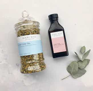 Natural Sleep Time Kit | Easing Herbal Tea & Soothing Bath & Body Oil from Nikki Hill Apothecary in Herbs & Homeopathy, Sustainable Beauty & Health