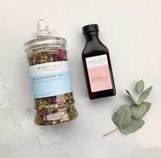 Natural PMS Relief Kit | Herbal Tea & Calming Bath & Body Oil from Nikki Hill Apothecary in Herbs & Homeopathy, Sustainable Beauty & Health