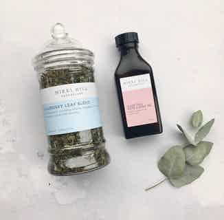 Natural Mama-To-Be Kit | Herbal Tea & Soothing Sleep Bath & Body Oil from Nikki Hill Apothecary in Herbs & Homeopathy, Sustainable Beauty & Health