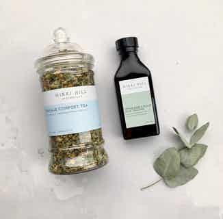 Herbal Period Comfort Kit |  Soothing Tea & Tincture | 60 Servings from Nikki Hill Apothecary in Herbs & Homeopathy, Sustainable Beauty & Health