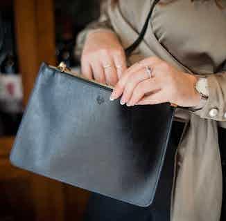 Camden Crossbody Clutch in Black & Cobalt from Watson & Wolfe in Crossbody Bags, Bags