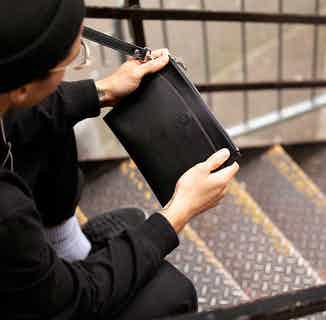 Travel Pouch & E-Reader Case in Black + Cuff Handle from Watson & Wolfe in Tablet Cases & Sleeves, Electronics