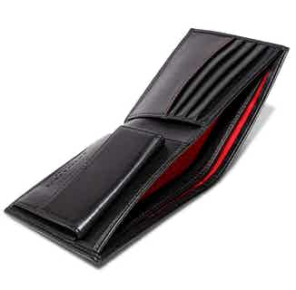 Wallet with Coin Pocket in Black & Red from Watson & Wolfe in Wallets & Card Holders, Accessories