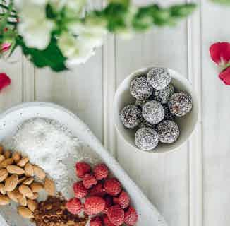 Raspberry Cocolossal Balls from Moral Fibre in Snacks & Treats, Sustainable Food & Drink