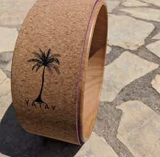 Cork Yoga Wheel | Recycled Cork & Rubber from Yatay Yoga in Yoga Equipment & Accessories, Sports & Exercise