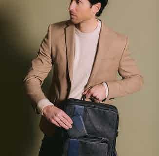 Vegan Leather Men's Backpack | Jared | Black & Grey from GUNAS New York in Bags, Men's Sustainable Fashion
