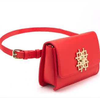 Vegan Leather Women's Crossbody Bag   Maisie   Orange from GUNAS New York in Crossbody Bags, Bags