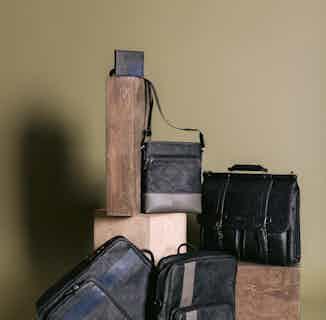 Vegan Leather Men's Sling Bag   Tom   Grey from GUNAS New York in Crossbody Bags, Bags
