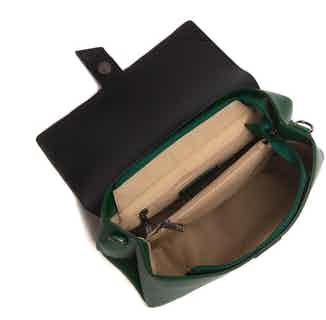 Emily | Recycled Plastic & Metals Crossbody Clutch Bag | Green from GUNAS New York in Crossbody Bags, Bags