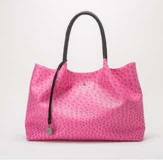 Naomi   Vegan Leather Women's Textured Tote Bag   Hot Pink from GUNAS New York in Totes Shoppers, Bags