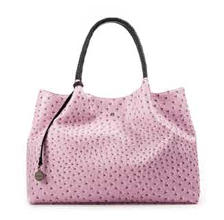 Naomi   Vegan Leather Women's Textured Tote Bag   Lavender from GUNAS New York in Totes Shoppers, Bags