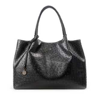 Naomi   Vegan Leather Women's Textured Tote Bag   Black from GUNAS New York in Totes Shoppers, Bags