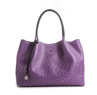 Naomi   Vegan Leather Women's Textured Tote Bag   Purple from GUNAS New York in Totes Shoppers, Bags