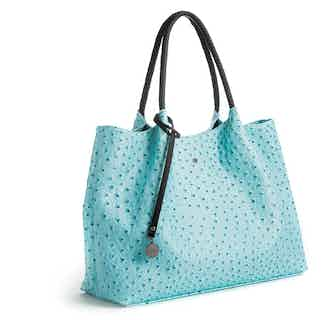 Naomi   Vegan Leather Women's Textured Tote Bag   Light Blue from GUNAS New York in Totes Shoppers, Bags