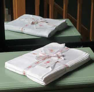 Himal | Fair Trade Organic Fitted Sheet | White from Their story in Bedding, Bedroom