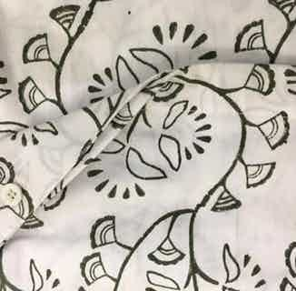Kota | Fair Trade Organic Duvet Cover Set | Black & White Print from Their story in Bedding, Bedroom