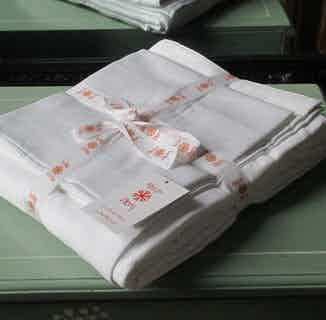 Himal | Fair Trade Organic Duvet Cover Set | White from Their story in Bedding, Bedroom