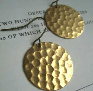 Hammered Disc earrings from The Magpie's Daughter in Jewellery, Women's Sustainable Clothing