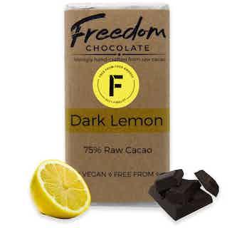 Dark Lemon | Organic Vegan Chocolate | 90G from Freedom Chocolate in Bars, Chocolate