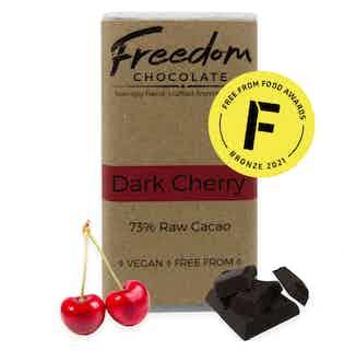 Dark Cherry | Organic Vegan Chocolate | 90G from Freedom Chocolate in Bars, Chocolate