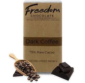 Dark Coffee | Organic Vegan Chocolate | 90G from Freedom Chocolate in Bars, Chocolate