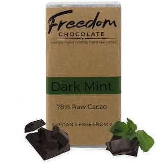Dark Mint   Organic Vegan Chocolate   90G from Freedom Chocolate in Bars, Chocolate