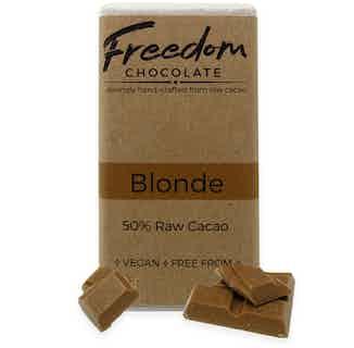 Blonde | Organic Vegan Butterscotch Chocolate | 30G from Freedom Chocolate in Bars, Chocolate